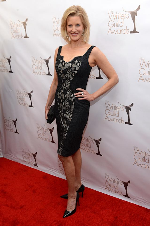 Anna Gunn arrives at the 2013 WGAw Writers Guild Awards at JW Marriott Los Angeles at L.A. LIVE on February 17, 2013 in Los Angeles, California.  (Photo by Jason Kempin/Getty Images for WGAw)