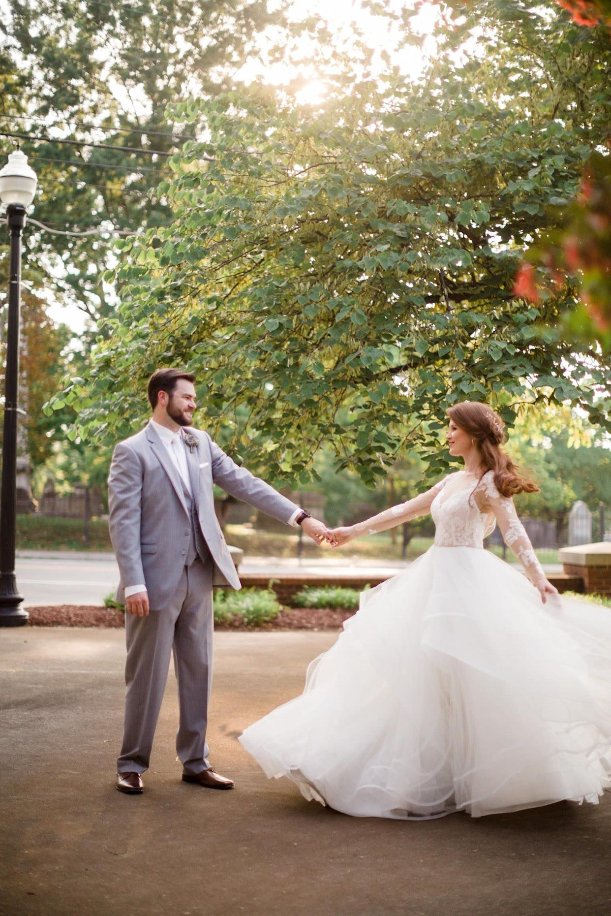 """""""Katrina and&nbsp;Preston married on&nbsp;July 22 in Knoxville, Tennessee."""" -- <i>Kathleen Atkins&nbsp;</i>"""