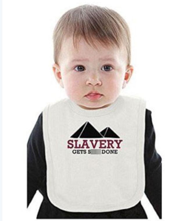 Products like this baby bib were slammed online. Photo: Amazon