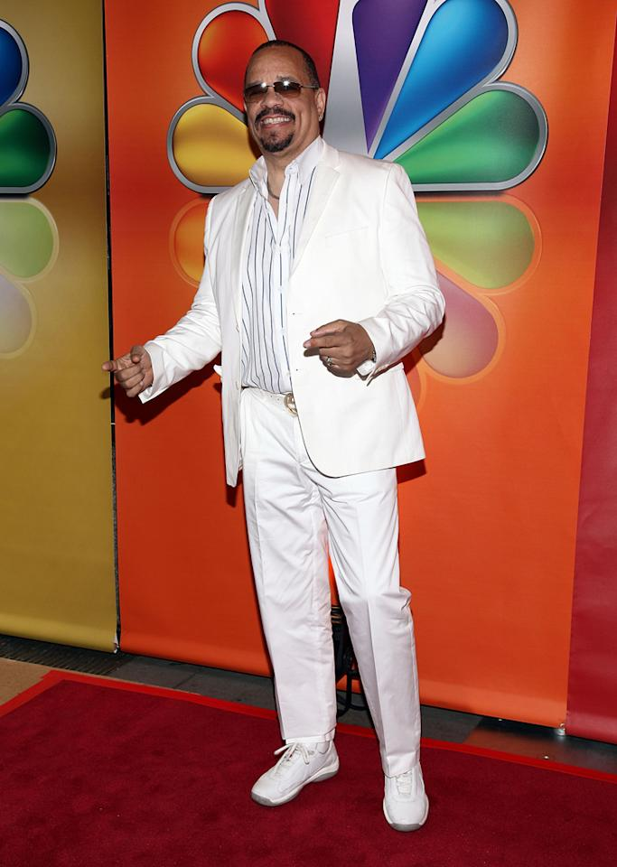 "Ice-T (""Law & Order: SVU"") attends NBC's 2012 Upfront Presentation at 51st Street on May 14, 2012 in New York City."