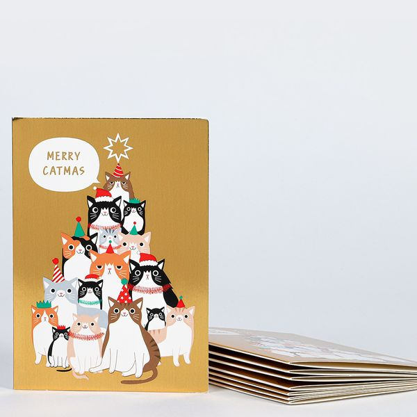 """<strong><h3>Paperchase</h3></strong><br>Although this stylish paper brand is U.K.-born and based, it still offers free shipping to the U.S. on all online stationery to greeting cards and gift orders for $30 or more. Many of the unique goods are exclusively crafted by an in-house design team — so you can spread your holiday cheer with a one-of-a-kind card all the way from foggy London Town this season. <br><br>Shop <a href=""""https://www.paperchase.com/en_us/christmas"""" rel=""""nofollow noopener"""" target=""""_blank"""" data-ylk=""""slk:Paperchase"""" class=""""link rapid-noclick-resp"""">Paperchase </a><br><br><strong>Paperchase</strong> Merry Cat-Mas Christmas Cards (8), $, available at <a href=""""https://go.skimresources.com/?id=30283X879131&url=https%3A%2F%2Fwww.paperchase.com%2Fen_gb%2Fmerry-cat-mas-christmas-cards-pack-of-8.html"""" rel=""""nofollow noopener"""" target=""""_blank"""" data-ylk=""""slk:Paperchase"""" class=""""link rapid-noclick-resp"""">Paperchase</a>"""