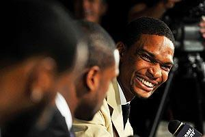 Most people figured Chris Bosh wanted to play with LeBron James or Dwyane Wade. He wanted to play with both