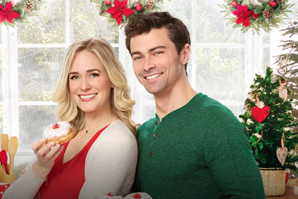 """<p>Oops, this Hallmark Channel Hanukkah movie is kind of about Christmas. But suspend your disbelief and enjoy: A woman gets dumped right before Christmas and enlists an actor to play her boyfriend for the holidays. But he turns out to be Jewish, which isn't exactly what her family was expecting.</p><p><a class=""""link rapid-noclick-resp"""" href=""""https://www.hallmarkchannel.com/holiday-date"""" rel=""""nofollow noopener"""" target=""""_blank"""" data-ylk=""""slk:CHECK TV SCHEDULE"""">CHECK TV SCHEDULE</a></p>"""