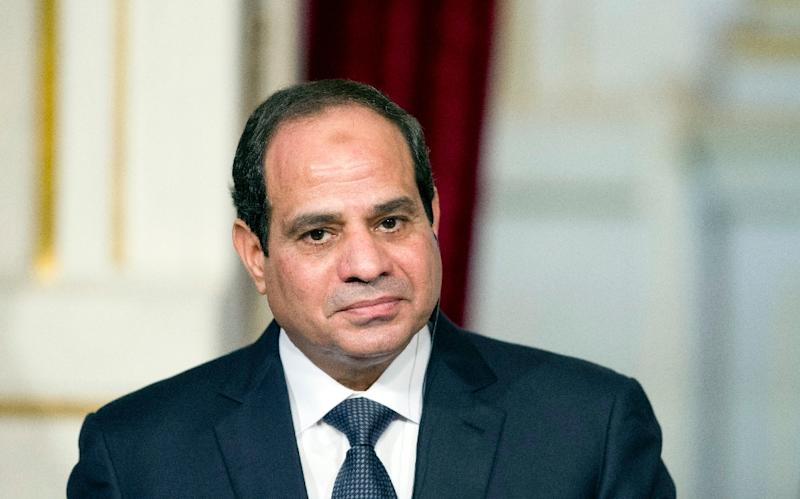 Egyptian President Abdel-Fattah al-Sisi has repeatedly called for a joint Arabic military force to fight jihadists in the region, and at an Arab League summit in March leaders of the region agreed to establish such a force (AFP Photo/Alain Jocard)