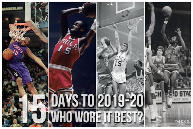 Which NBA player wore No. 15 best?