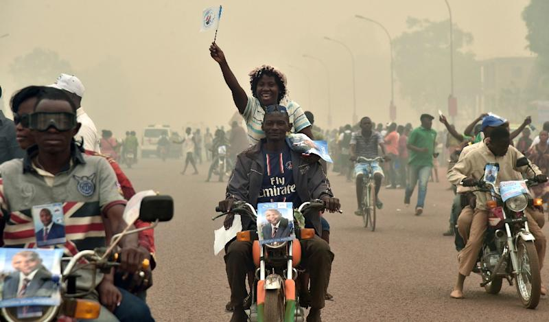 Faustin Archange Touadera, a former maths teacher, was the surprise winner of February's run-off election in the country that had been wracked by three years of communal violence (AFP Photo/Issouf Sanogo)