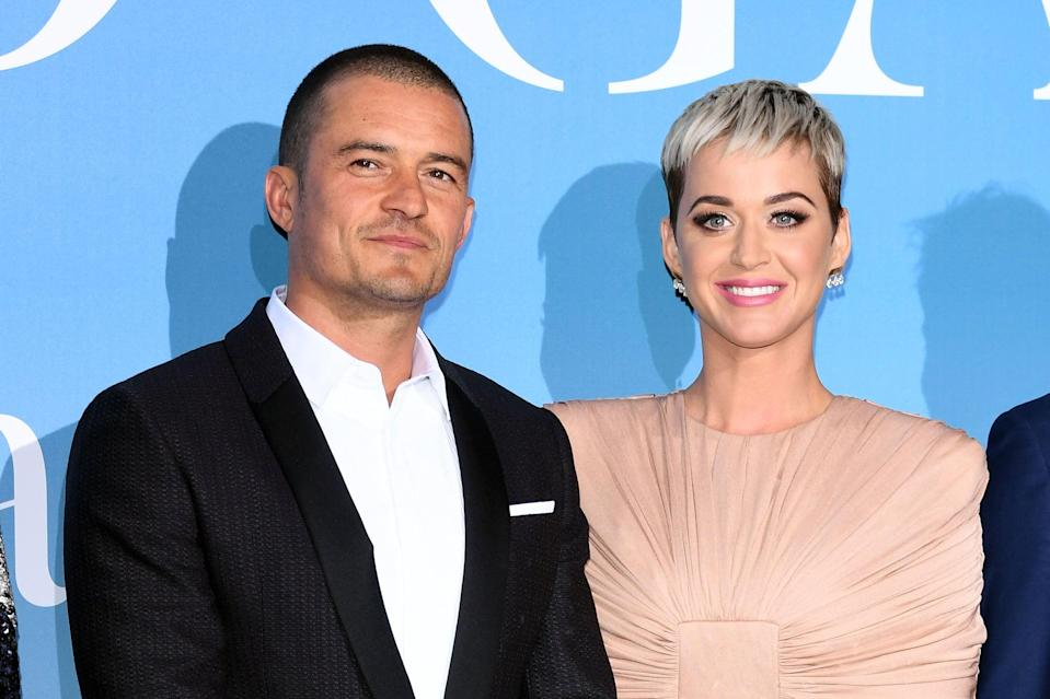 MONTE-CARLO, MONACO - SEPTEMBER 26:  Orlando Bloom and Katy Perry attend the Gala for the Global Ocean hosted by H.S.H. Prince Albert II of Monaco at Opera of Monte-Carlo on September 26, 2018 in Monte-Carlo, Monaco.  (Photo by Daniele Venturelli/Daniele Venturelli/ Getty Images)