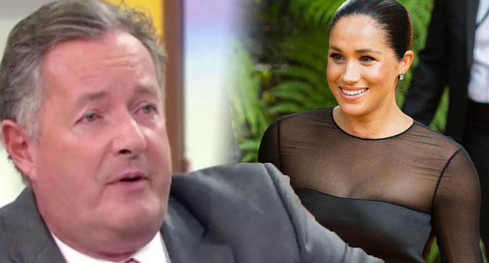 Piers Morgan dismisses claims Meghan Markle faces racist abuse. [Photo: Getty/ITV]