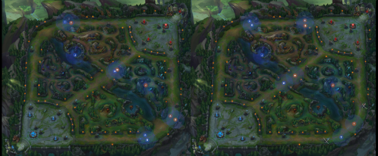 Common setups for taking Rift Herald, usually done with a tempo or push advantage (Rift Kit)