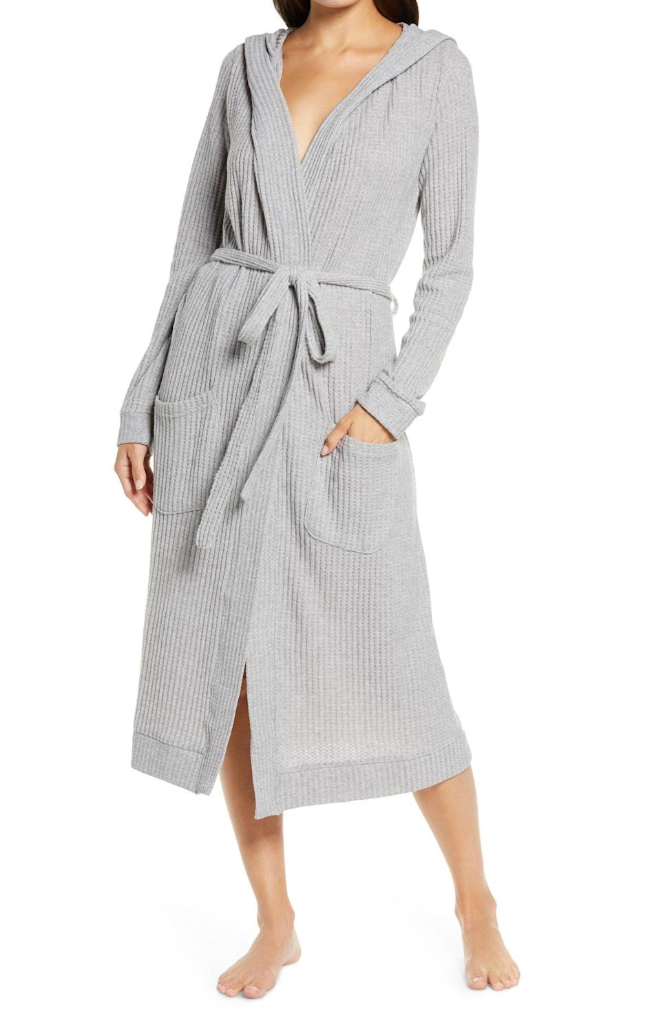 <p>This <span>Honeydew Lounge Pro Hooded Robe</span> ($64) also comes in black and pink.</p>