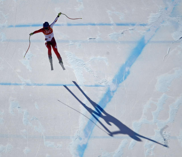 <p>Switzerland's Lara Gut races in the women's super-G at the 2018 Winter Olympics in Jeongseon, South Korea, Saturday, Feb. 17, 2018. (AP Photo/Charlie Riedel) </p>