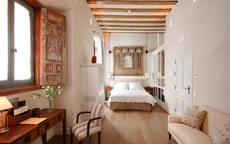 Each of the 17 rooms at Corral del Rey is simply but beautifully furnished