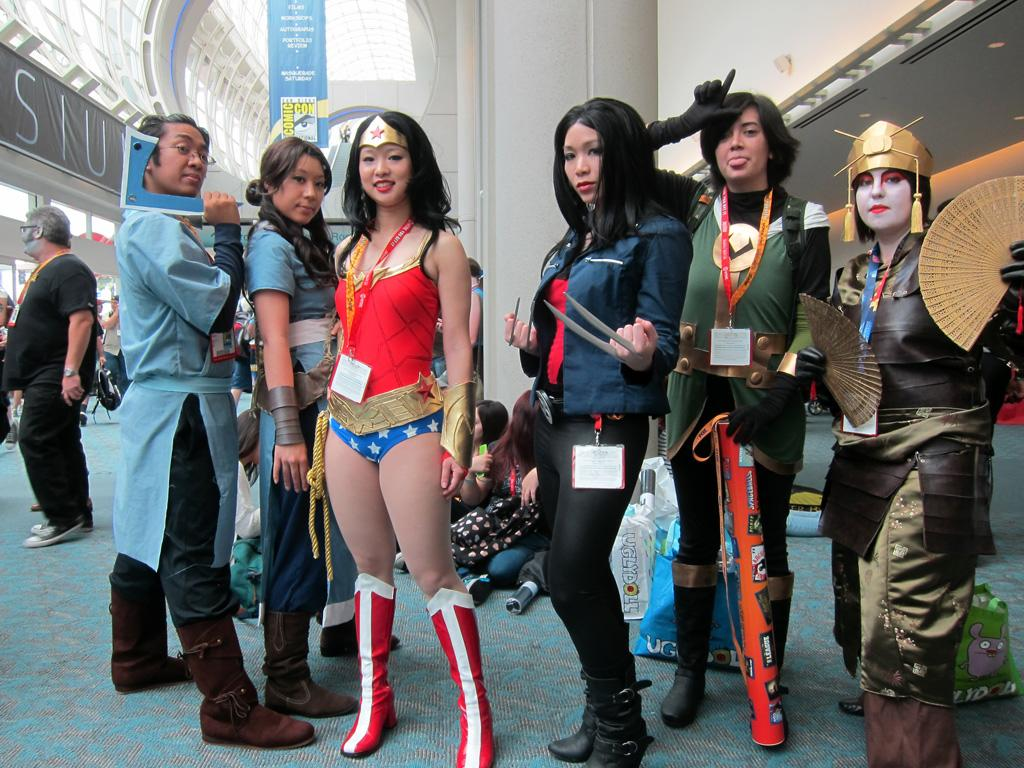This group of super-friends is ready for Comic-Con - San Diego Comic-Con 2012