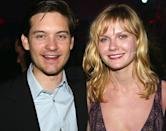 """<p>Although they only briefly dated, director Sam Raimi was worried that Maguire and Dunst's breakup <a rel=""""nofollow noopener"""" href=""""https://www.moviefone.com/2007/05/08/sam-raimi-says-he-worried-maguire-dunst-breakup-would-ruin-serie/"""" target=""""_blank"""" data-ylk=""""slk:would affect their on-screen chemistry"""" class=""""link rapid-noclick-resp"""">would affect their on-screen chemistry</a>. (Photo: Kevin Winter/Getty Images) </p>"""
