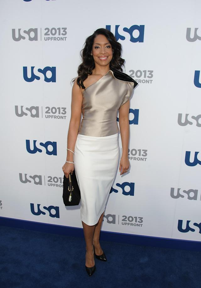 NEW YORK, NY - MAY 16: Gina Torres attends USA Network 2013 Upfront Event at Pier 36 on May 16, 2013 in New York City. (Photo by Dave Kotinsky/Getty Images)