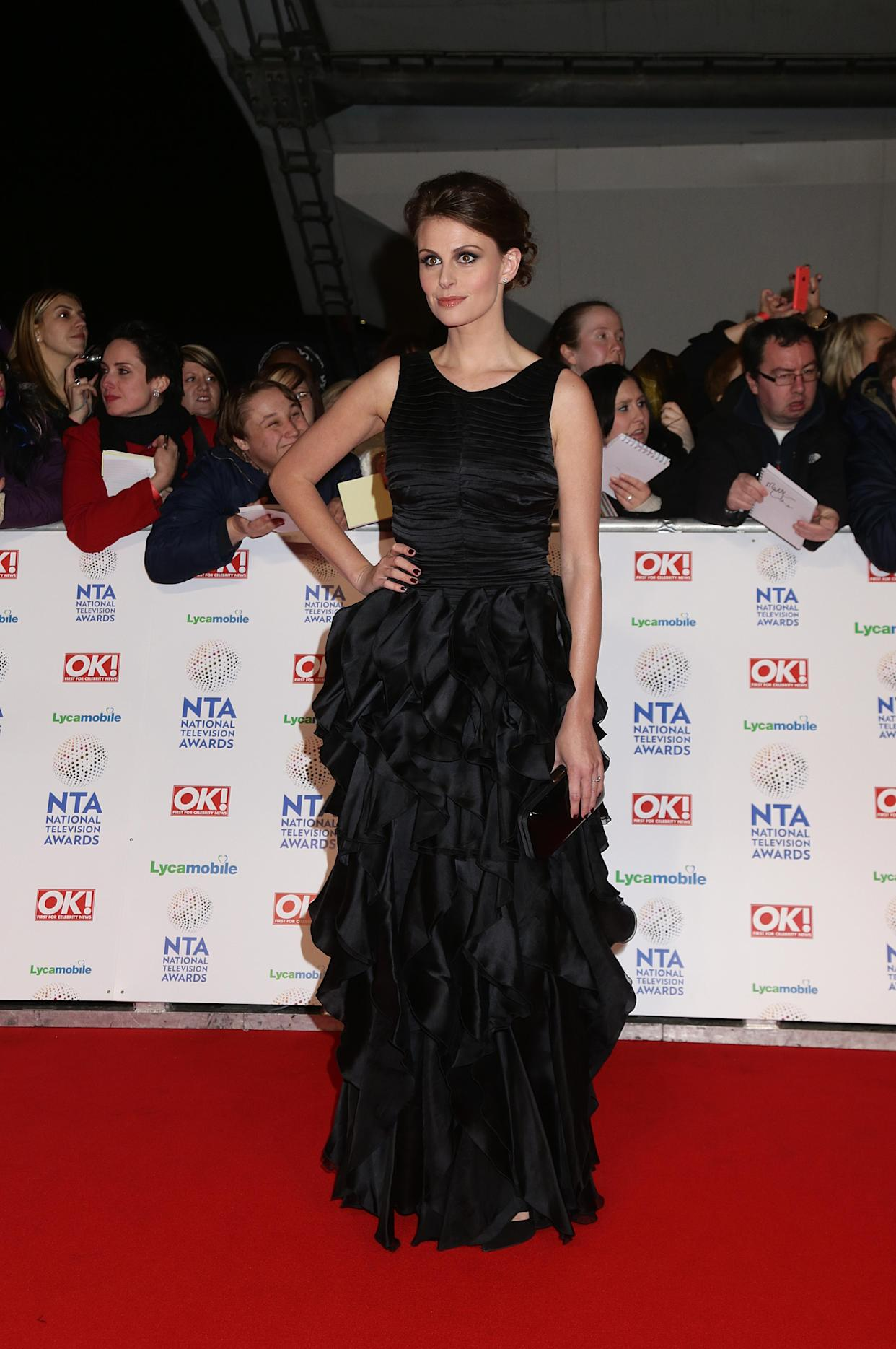 Ellie Taylor arriving for the 2014 National Television Awards at the O2 Arena, London.   (Photo by Yui Mok/PA Images via Getty Images)