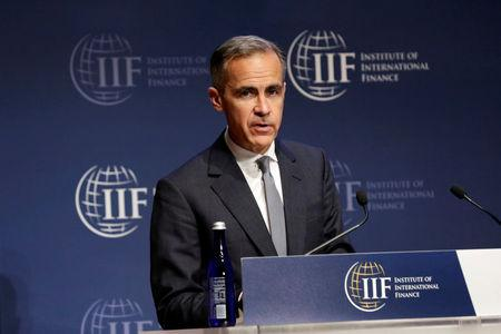 Bank of England Governor Mark Carney speaks at 2017 Institute of International Finance (IIF) policy summit in Washington, U.S., April 20, 2017. REUTERS/Yuri Gripas