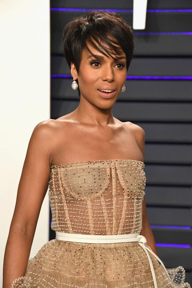 <p>Kerry Washington is giving us more inspiration for your everyday pixie. For more dimension, ask your stylist for longer side-swept bangs and lock them in with a hint of gel. </p>