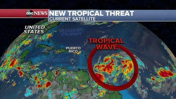 PHOTO: The storm will move near Puerto Rico by the end of the week and bring the island heavy rain, gusty winds and a threat for flash flooding. (ABC News)