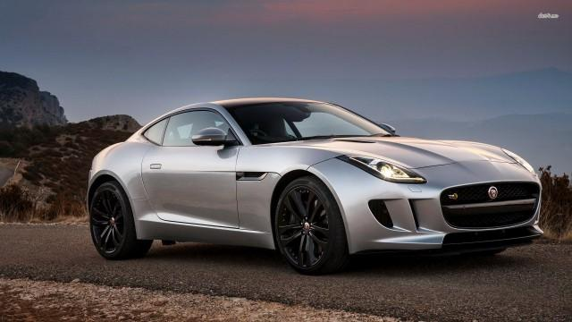 Silver Jaguar F-Type coupe (2015)