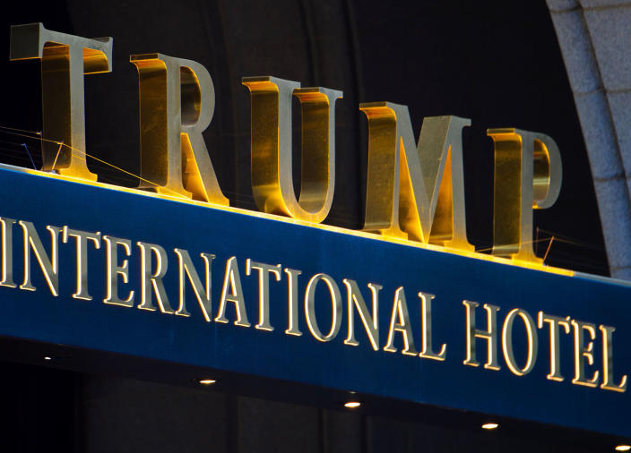 The Trump International Hotel has been a point of focus for the President's critics: Getty