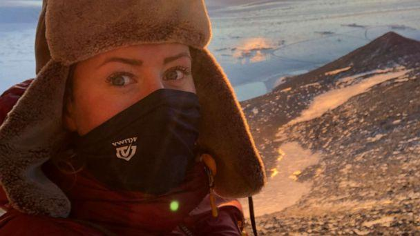 PHOTO: Karin Jansdotter is living what she calls 'a dream' while working as a chef at Troll, a remote Norwegian scientific-research base in Antarctica. (Courtesy Karin Jansdotter)