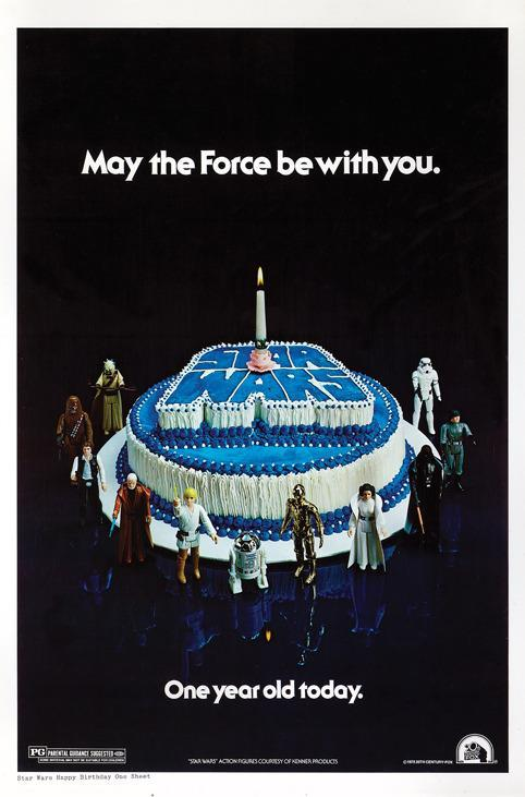 Lucasfilm only printed 400 of these posters, which were given out to theaters to celebrate the first anniversary of 'Star Wars's release. (Profiles in History)