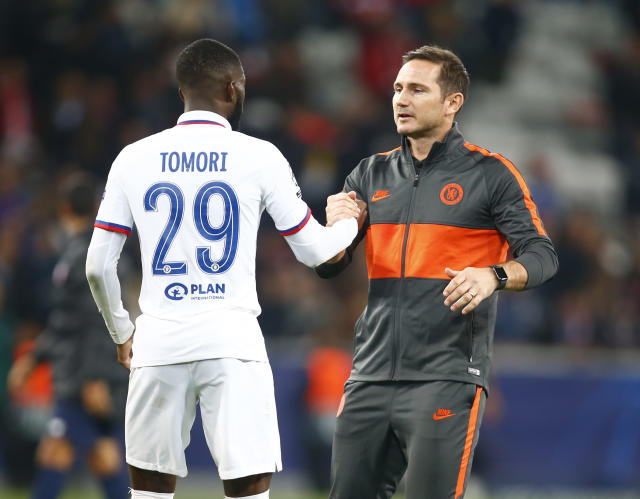 Frank Lampard and Fikayo Tomori (Credit: Getty Images)
