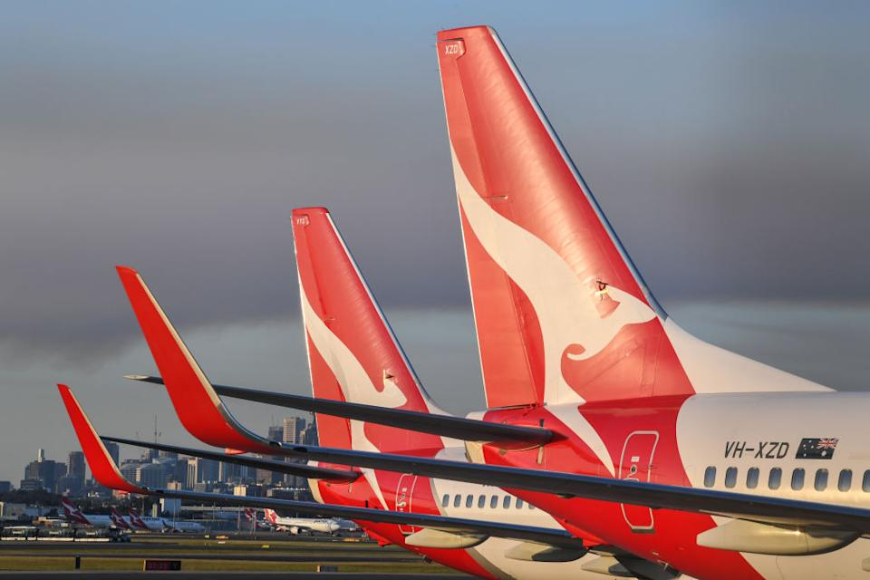 Qantas is mandating COVID-19 vaccinations for all its employees. (Photo by James D. Morgan/Getty Images)
