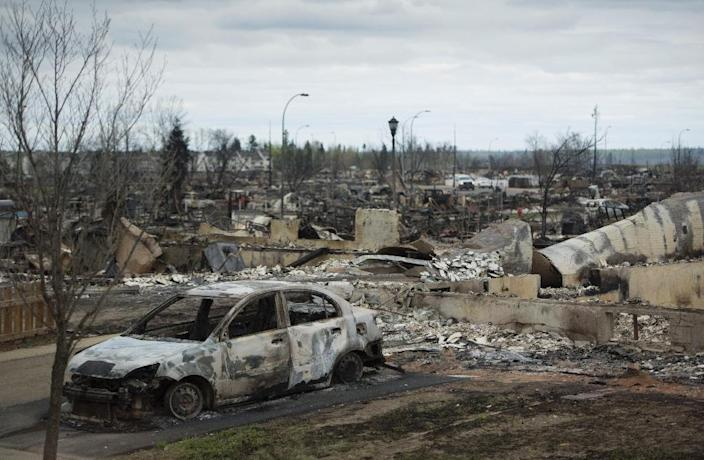 The Fort McMurray wildfires remain out of control in Alberta, covering more than 522,800 hectares (1,291,800 acres) (AFP Photo/Jonathan Hayward)