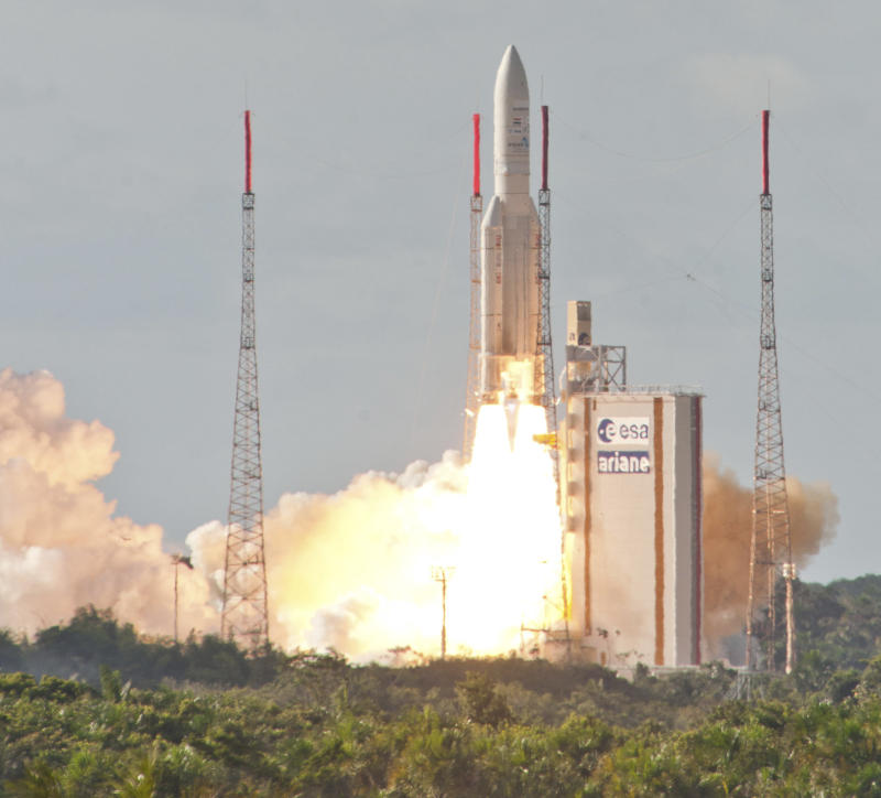 Arianespace launches rocket from French Guiana