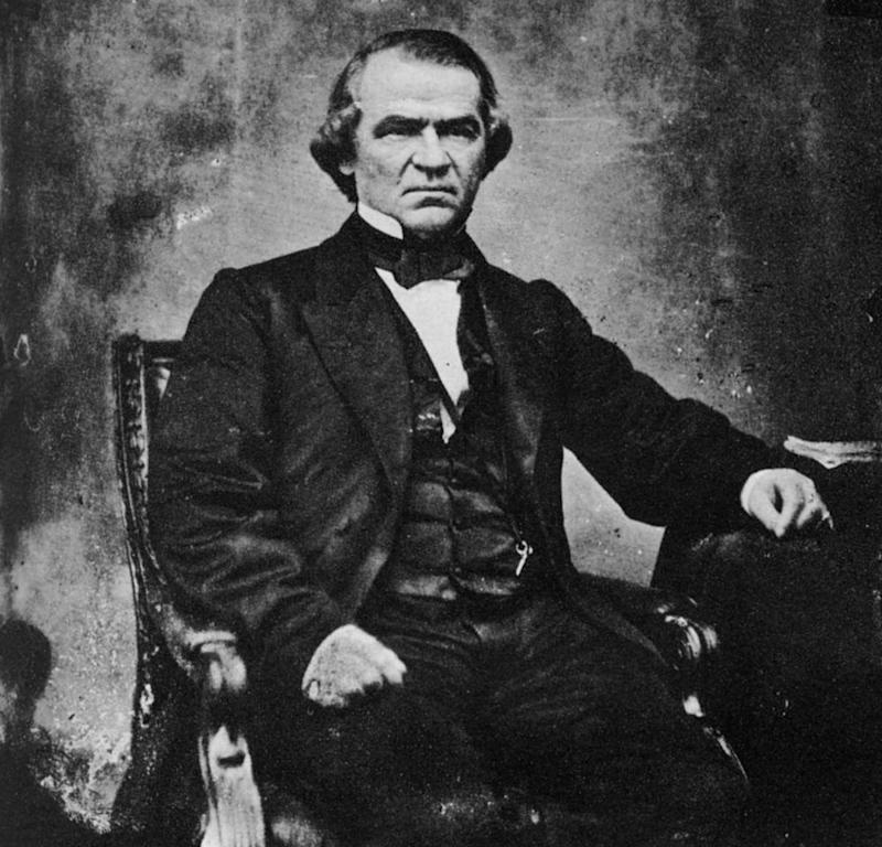 PresidentAndrew Johnson | The Print Collector/Print Collector/Getty