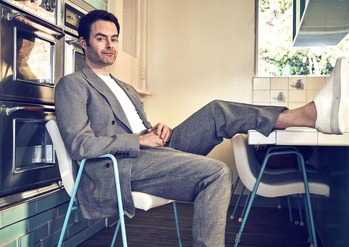 <p>Bill Hader in a Brunello Cucinelli suit, a&nbsp;Calvin Klein Underwear T-shirt, and&nbsp;Koio sneakers. Photographed by Beau Grealy.</p>