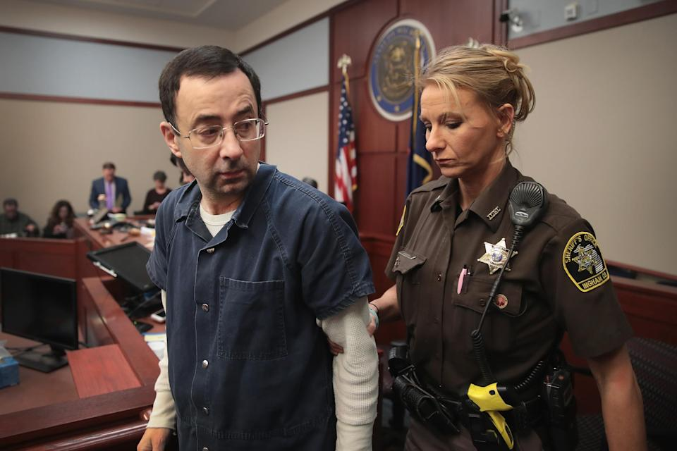 Larry Nassar in the Michigan courtroom where he was sentenced. (Photo: Scott Olson/Getty Images)