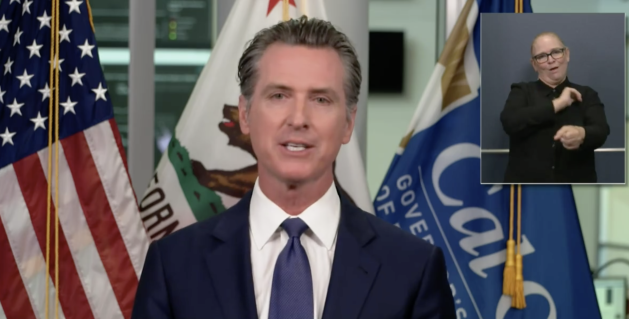 California governor cautiously upbeat as virus numbers ease