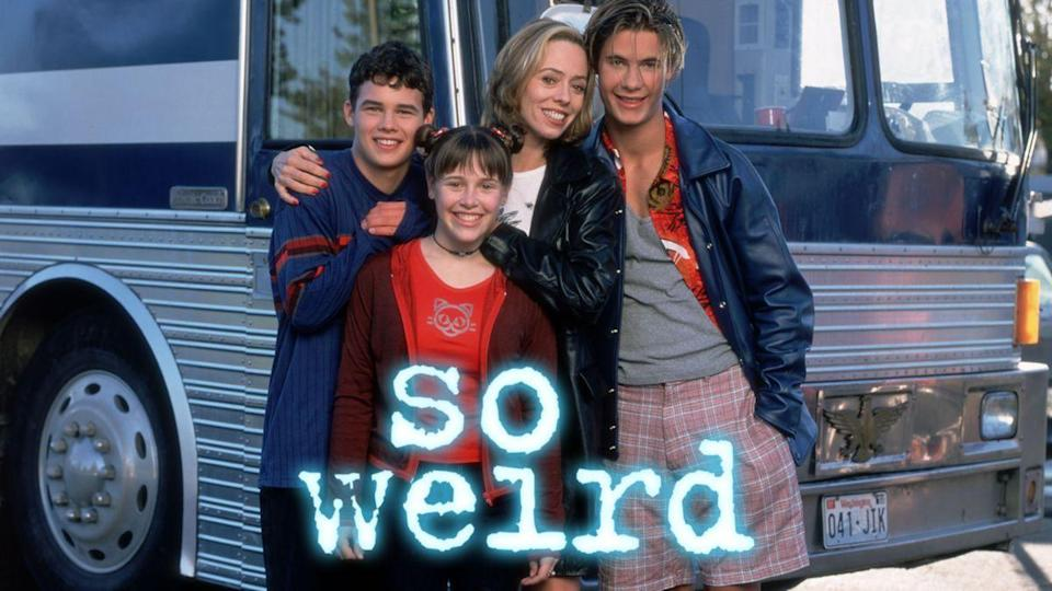 """<p><em>So Weird,</em> which only lasted three seasons, was about a girl who toured around the country with her musician mom and made supernatural discoveries along the way. It ended too soon, but at least it's on Disney+.</p><p><a class=""""link rapid-noclick-resp"""" href=""""https://go.redirectingat.com?id=74968X1596630&url=https%3A%2F%2Fwww.disneyplus.com%2Fseries%2Fso-weird%2F2WsDqVe2u5wa&sref=https%3A%2F%2Fwww.redbookmag.com%2Flife%2Fg34770662%2Fcanceled-90s-tv-shows%2F"""" rel=""""nofollow noopener"""" target=""""_blank"""" data-ylk=""""slk:Watch Now"""">Watch Now</a></p>"""