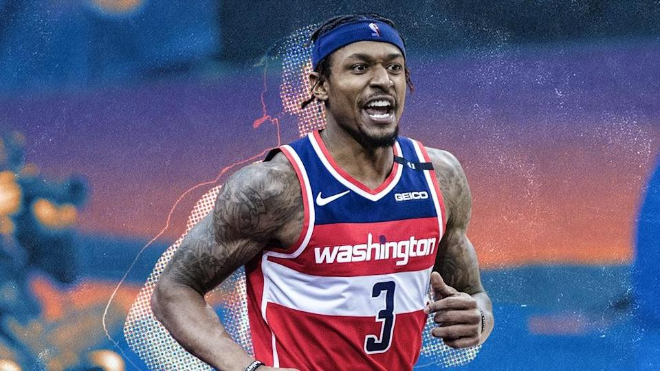Bradley Beal treated image in Wizards jersey