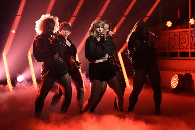 "<p>The megastar's ""Look What You Made Me Do"" was passed over for a Record of the Year nom. That's not a big surprise: It was a polarizing hit. But ""Better Man,"" which Swift wrote for Little Big Town, was passed over for a Song of the Year nom. It won Song of the Year at the CMAs this month. (Photo: Will Heath/NBC/NBCU Photo Bank via Getty Images) </p>"