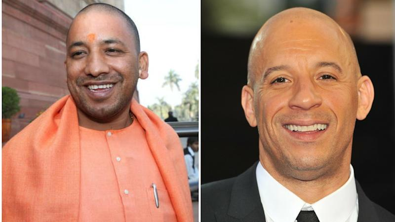Twitter Can't Get Over Yogi Adityanath's Resemblance to Vin Diesel