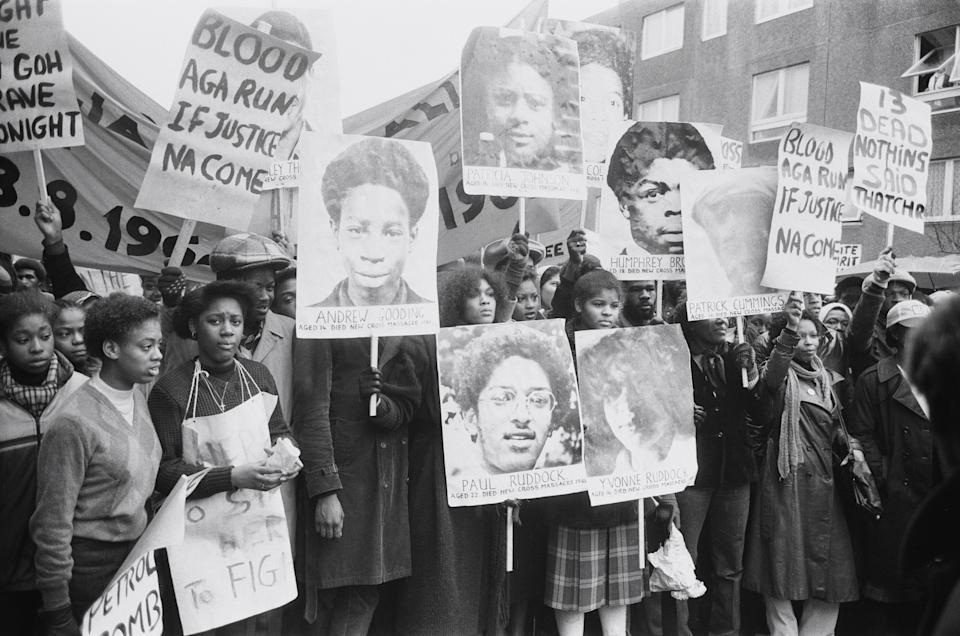 Protesters on the Black People's Day Of Action march in 1981 (Photo: Mirrorpix via Getty Images)
