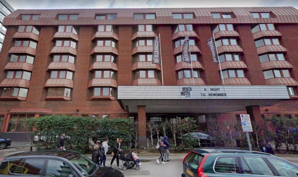 The outbreak at the Penta Hotel in Reading has seen 44 people testing positive for COVID. (Google)