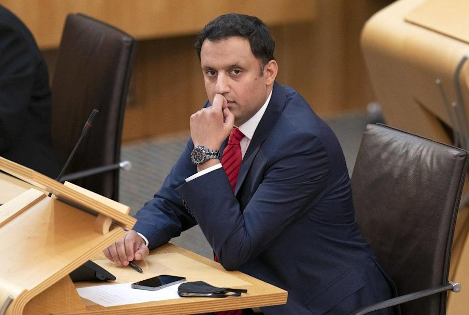 Anas Sarwar was making his first speech as leader to the Labour Party conference in Brighton (Jane Barlow/PA) (PA Wire)
