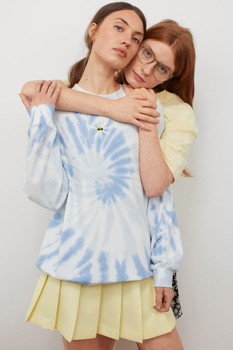 <p>Nothing says spring like this cozy, oversized <span> To All the Boys I've Loved Before x H&amp;M Tie-Dye Sweatshirt</span> ($30). It even has a cute embroidered daisy with sunglasses. </p>