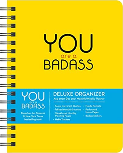 """<h3><a href=""""https://amzn.to/37THvX8"""" rel=""""nofollow noopener"""" target=""""_blank"""" data-ylk=""""slk:Jen Sincero You Are A Badass 17-Month Planner"""" class=""""link rapid-noclick-resp"""">Jen Sincero You Are A Badass 17-Month Planner</a></h3><br><strong>Deal: 50% off</strong><br><br>From the <em><a href=""""https://amzn.to/34WU9Bn"""" rel=""""nofollow noopener"""" target=""""_blank"""" data-ylk=""""slk:New York Times'"""" class=""""link rapid-noclick-resp"""">New York Times' </a></em><a href=""""https://amzn.to/34WU9Bn"""" rel=""""nofollow noopener"""" target=""""_blank"""" data-ylk=""""slk:bestselling book of the same name"""" class=""""link rapid-noclick-resp"""">bestselling book of the same name</a> by Jen Sincero, this powerful 17-month planner is stacked with everything from inspirational quotes to sassy stickers and monthly habit trackers. As one badass reviewer states, """"I use this planner every day. It breaks up the monotony of a normal """"boring"""" planner. This planner certainly does not go unnoticed.""""<br><br><strong>Jen Sincero</strong> You Are a Badass 17-Month 2020-2021 Planner, $, available at <a href=""""https://amzn.to/2LomNXy"""" rel=""""nofollow noopener"""" target=""""_blank"""" data-ylk=""""slk:Amazon"""" class=""""link rapid-noclick-resp"""">Amazon</a>"""