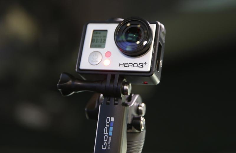 GoPro Hero 3+ camera is seen at the Nasdaq Market Site before before GoPro Inc's IPO in New York