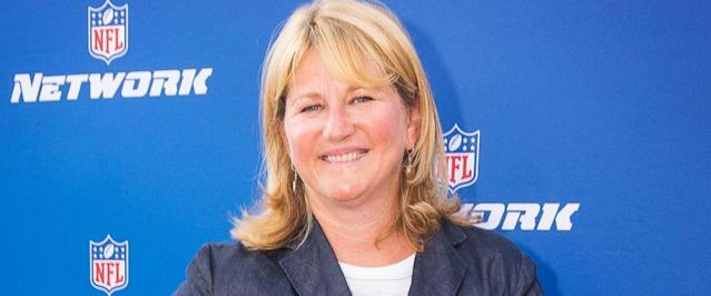 "The NFL has promoted Maryann Turcke to chief operating officer, making her the highest-ranking woman at the league offices. Commissioner Roger Goodell said Tuesday, March 13, 2018, she has ""distinguished herself by leading NFL Network to a record-setting year.""(Colin Young-Wolff/AP Images for NFL Network, File)"