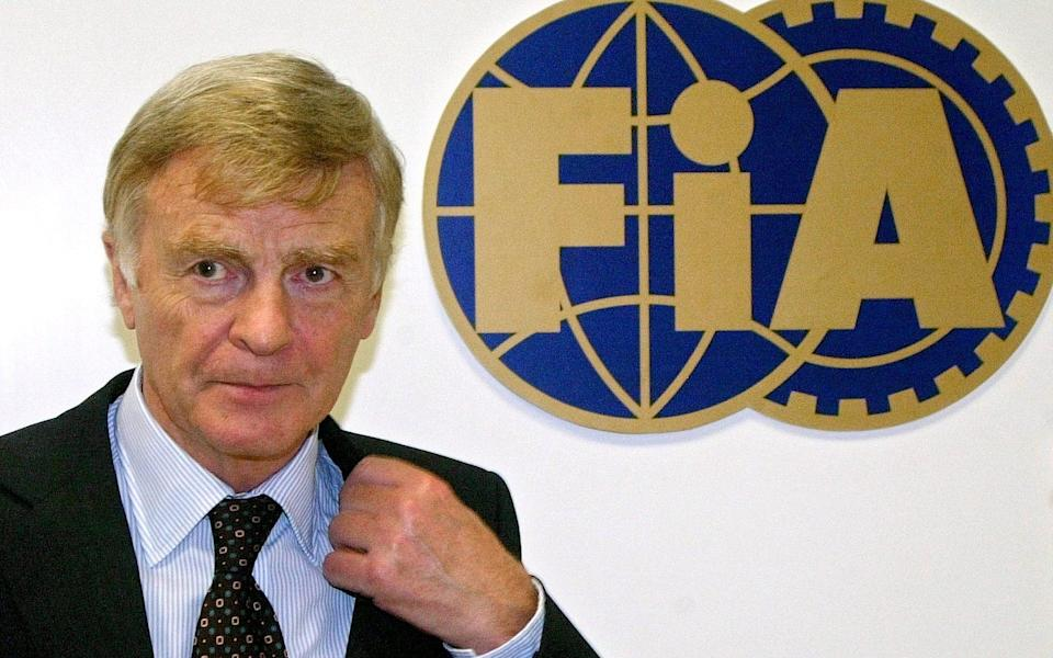 Max Mosley in 2004 during his time as FIA president - Lionel Cironneau/AP