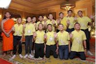 <p>The world waited with bated breath for 12 boys and their soccer coach to be saved after becoming trapped in a cave in northern Thailand. Here, the team is all smiles after their rescue.<br></p>