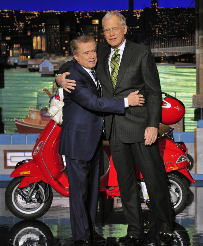 Regis Philbin and David Letterman (CBS Photo Archive / CBS via Getty Images)