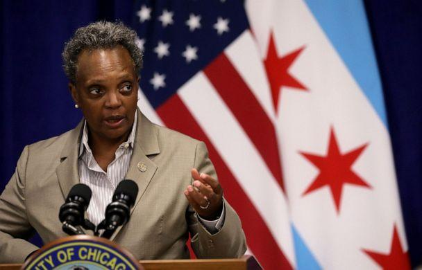 PHOTO: Mayor Lori Lightfoot speaks during a news conference at the Greater Western Community Development Project in Chicago on Sept. 14, 2020. (Chicago Tribune/TNS via Getty Images, FILE)